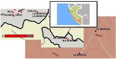 La morada - Provinz Chachapoyas. Montage: D. Raiser. Kartenmaterial: INEI, IGN