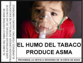 Tabakrauch fördert Asthma. Quelle: peruanisches Gestundheitsministerium MINSA