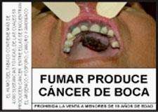 Rauchen fördert Krebs - an allen Körperteilen. Quelle: Warnung des peruanischen Gesundheitsministeriums MINSA.