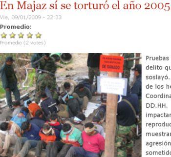 Folter von Bauernvertretern und Journalist. Bildausschnitt von La República.