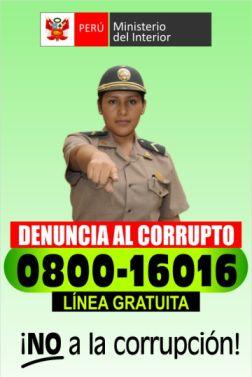 Denuncia al corrupto. Korrupte anzeigen. Quelle: MININTER