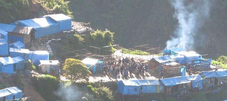 Notunterkünfte in Winchumayo. Bild: ANDINA