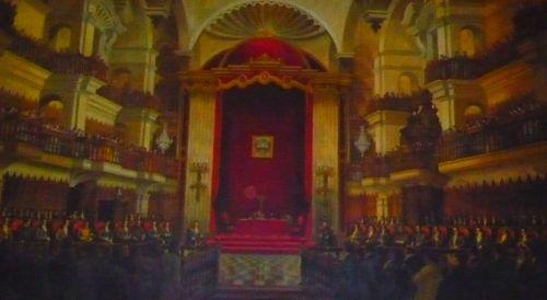 Verfassungsgebende Versammlung Perus 20.09.1822 - Bild im Eingangsbereich des peruan. Kongresses. Foto: D. Raiser