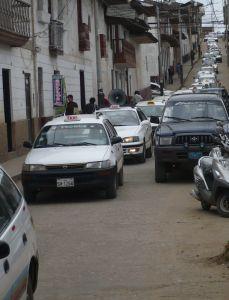 Paro de Taxistas. Taxifahrerstreik in Chachapoyas. Foto: D. Raiser