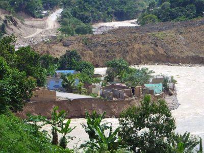 Aserradero nach dem Erdrutsch. Foto: S. Staiger
