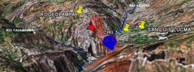 Erdrutsch in der Provinz Chota. Bild: peruanischer Zivilschutz INDECI.