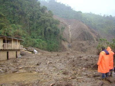 Cancejos (Chinchao / Huanuco) nach dem Erdrutsch. Bild: ANDINA
