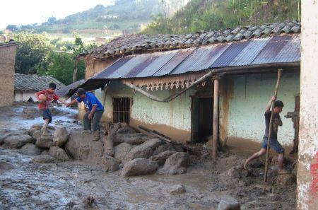 Porvenir nach dem Erdrutsch. Bild: ANDINA