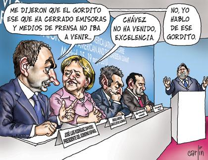 "Karrikatur aus der Tageszeitung ""La República""."