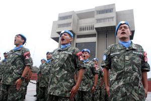 Peruanische UN-Blauhelme vor ihrer Abreise nach Haiti.  Foto: ANDINA/Héctor Vinces.