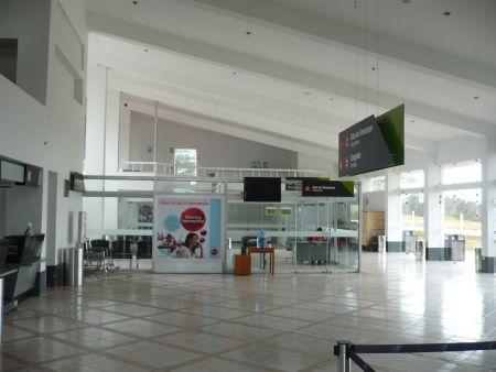 Flughafen Chachapoyas - Wartehalle und Check-In-Bereich. Foto: D. Raiser / INFOAMAZONAS