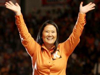 Keiko Fujimori beim Wahlkampfauftakt. Bild: Fuerza 2011.