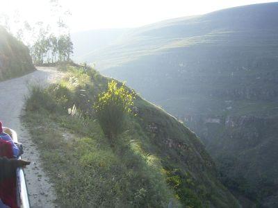 Straße Chachapoyas / Soloco-Kreuzung / Mendoza. Bild: D. Raiser / INFOAMAZONAS