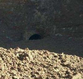Eisenbahntunnel-Eingang verschüttet. Foto: INDECI