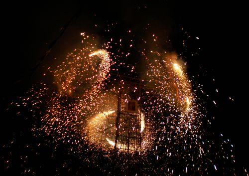 Feuerwerk in Peru. Foto: D. Raiser / INFOAMAZONAS