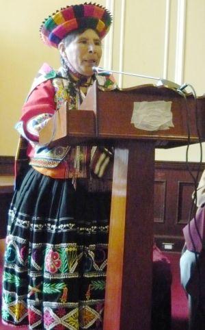 Hilaria Supa Huamán. Foto: Congreso de la República.