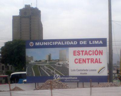 Provinzverwaltung Lima-Werbetafel. Bild: D. Raiser / INFOAMAZONAS