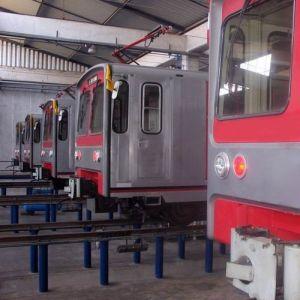 Die Züge im Depot. Foto: AATE