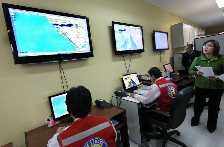 Peruanische Verkehrskontrollbehörde SUTRAN. Peruanische Verkehrskontrollbehörde SUTRAN. Foto: ANDINA/Carlos Lezama.