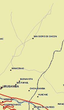 Ort der Überschwemmung. Karte: peruanisches Umweltministerium MINAM