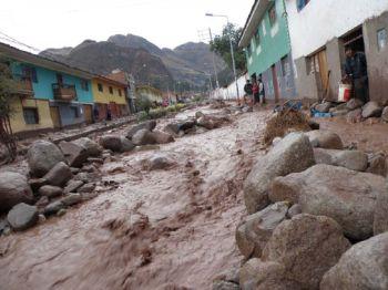 Überschwemmungen in Urubamba. Foto: INDECI.
