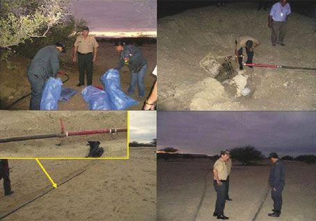 Öl-Diebstahl bei Bayóvar (Piura). Bilder: PNP/La República.