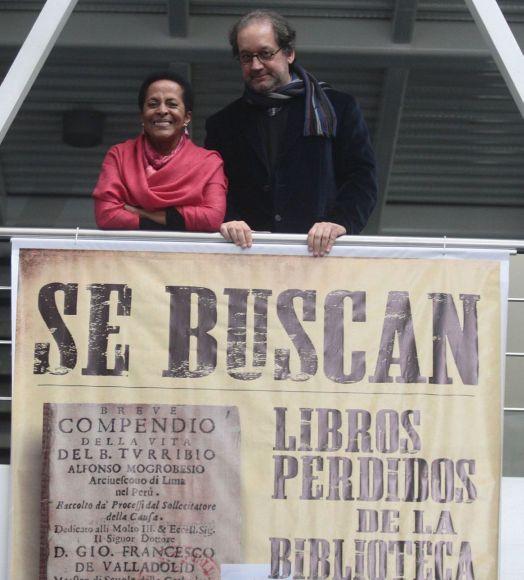 "Kulturministerin Susana Baca, BNP-Direktor Ramón Mujica, Kampagne ""Se Busca"". Foto: ANDINA."