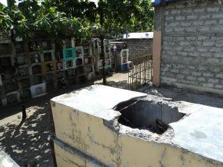 Hier lag sie, die Leiche. Foto: Radio La Voz.