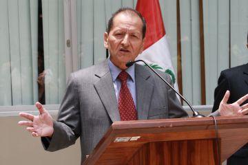 Jorge Merino Tafur, Bergbauminister. Foto: Norman Córdova / ANDINA.