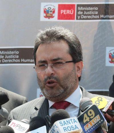 Juan Jiménez Mayor, Perus Justiz- und Menschenrechtsminister. Foto: Juan Carlos Guzmán Negrini / Andina.