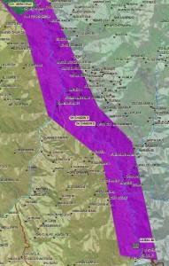 Wasserkraftprojekt Chadin 2. Karte: Geoservidor MINAM.