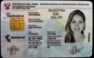 DNI-e, der elektronische Personalausweis. Foto: ANDINA.