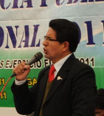 Kléver Meléndez, Regionalpräsident von Pasco. Foto: Gobierno Regional de Pasco.