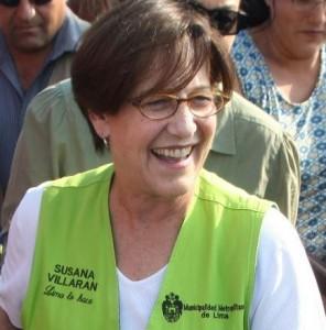 Limas Bürgermeisterin Susana Villarán de la Puente. Foto: Héctor Vinces / ANDINA.