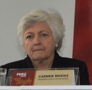 DEVIDA-Chefin Carmen Masías. Foto: Presidencia.