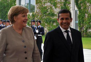 Bundeskanzlerin Merkel, Präsident Humala. Foto: Presidencia de la República.