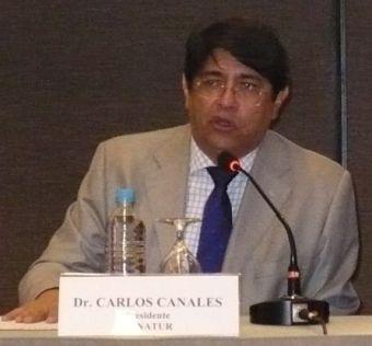 Polemisiert: Carlos Canales, CANATUR-Vorsitzender. Foto: ANDINA.
