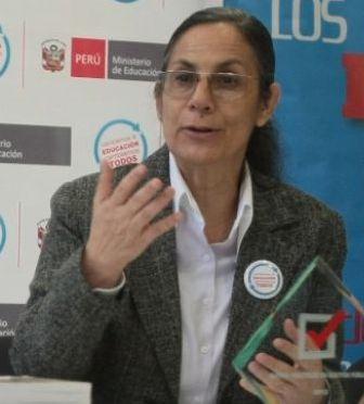 Perus Bildungsministerin Patricia Salas. Foto: Juan Carlos Guzmán Negrini / ANDINA.