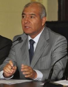 Wilfredo Pedraza, Perus Innenminister. Foto: Prensa Presidencia.