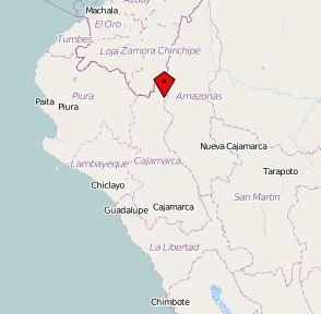 Distrikt Huarango in Cajamarca. Karte: OpenStreetMap.