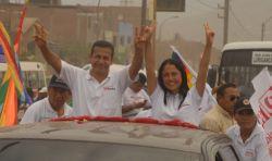 Ollanta Humala und Nadine Heredia im Wahlkampf 2011. Foto: Partido Nacionalista.