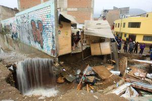 Rohrbruch in Villa María del Triunfo. Foto: Juan Carlos Guzmán Negrini / ANDINA.