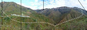 Ausmaße Cañariaco-Tagebau in Lambayeque. Foto: Candente Copper.