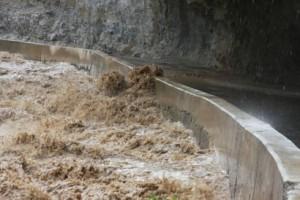 Hochwasser: Der Utcubamba, Prov. Bongara. Foto: Region Amazonas.
